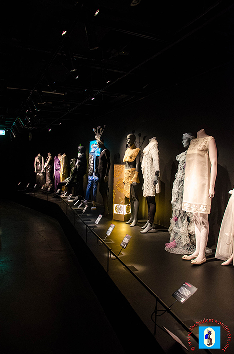 A fashion exhibition inside Powerhouse Museum.