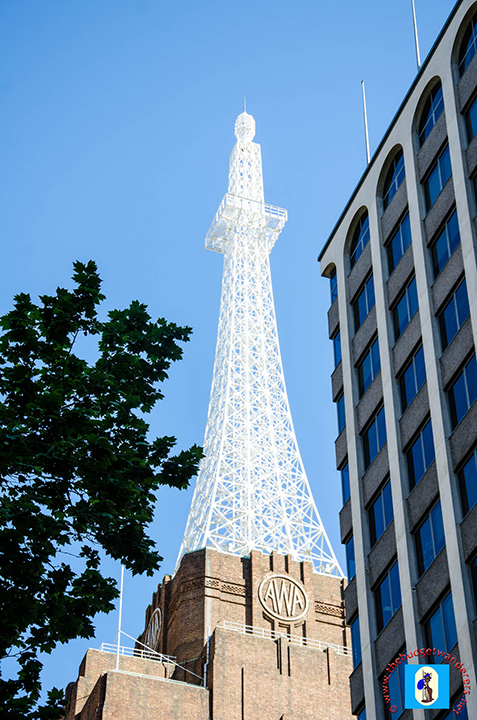 AWA Tower is considered a twin of the famous Eiffel Tower of Paris, France.