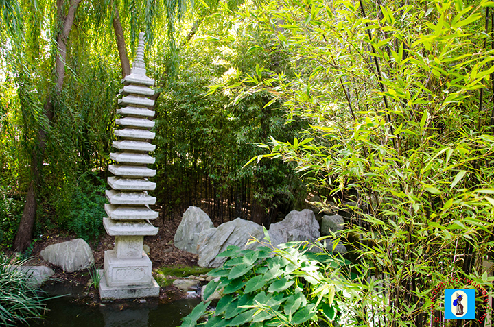 Pagoda-like monument near Bamboo Forest