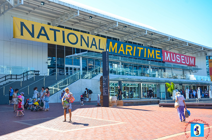 The Australian National Maritime Museum in Darling Harbour.
