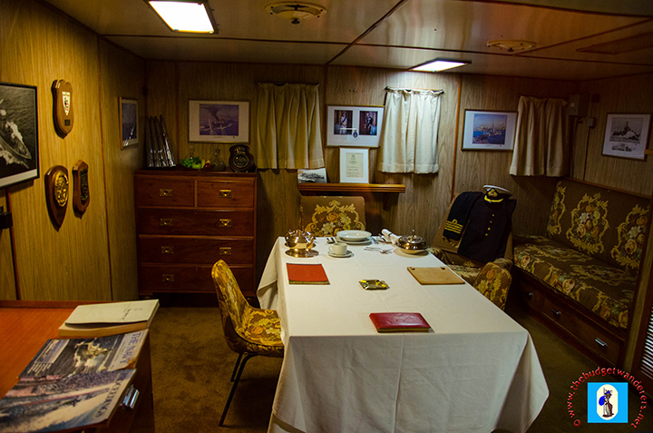 One of the HMAS Vampire's luxurious decks.