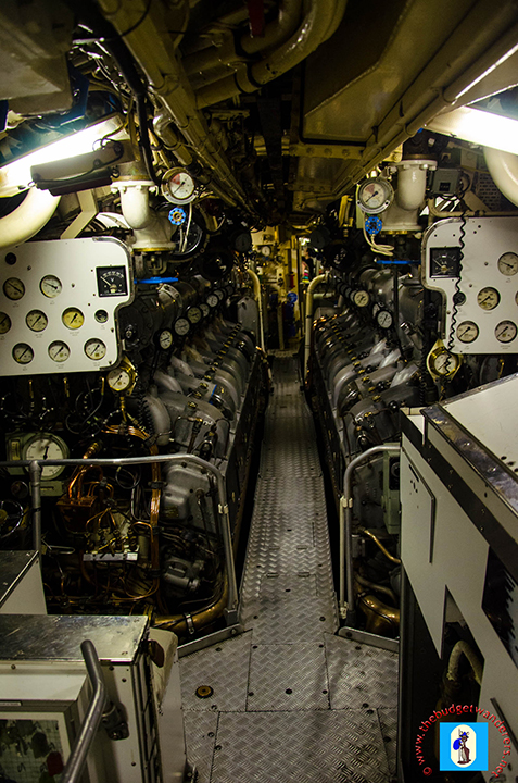 The submarines engine room.