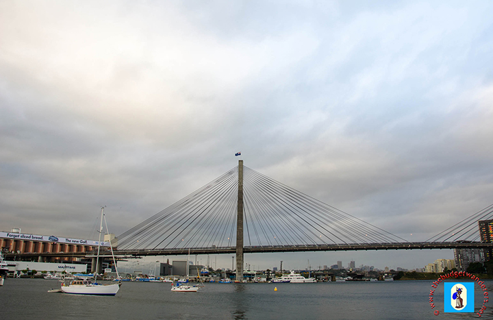 ANZAC Bridge spans Johnstons Bay.