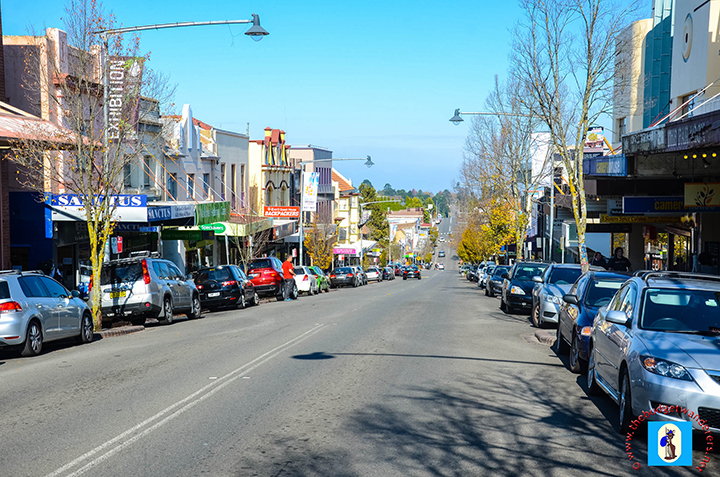 Katoomba's main street.