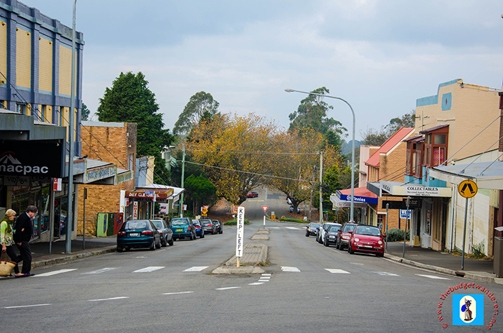 Another view of a street intersecting Katoomba Street.