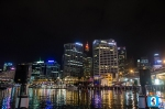 View of Darling Harbour before the Vivid Aquatique show.