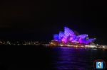 Sydney Opera House is lit up once again with spectacular colourful light artworks.