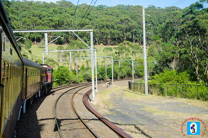A view of the train near Otford, South Coast of NSW.