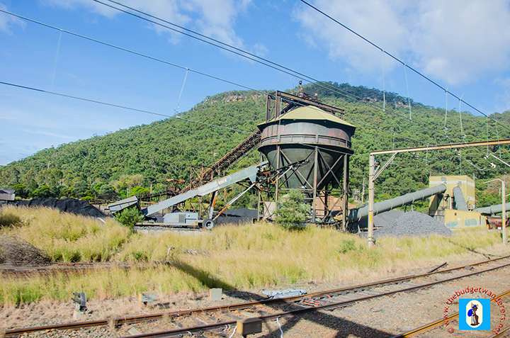 A view of the Coal Loader at Metropolitan Colliery, Coalcliff, South Coast.