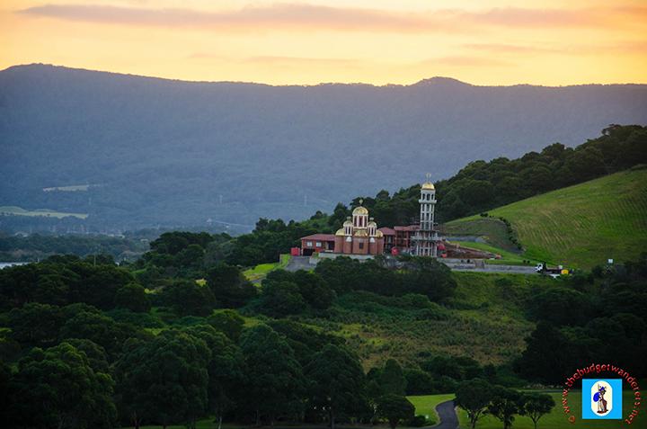 A view of a church near Unanderra, South Coast, of NSW.