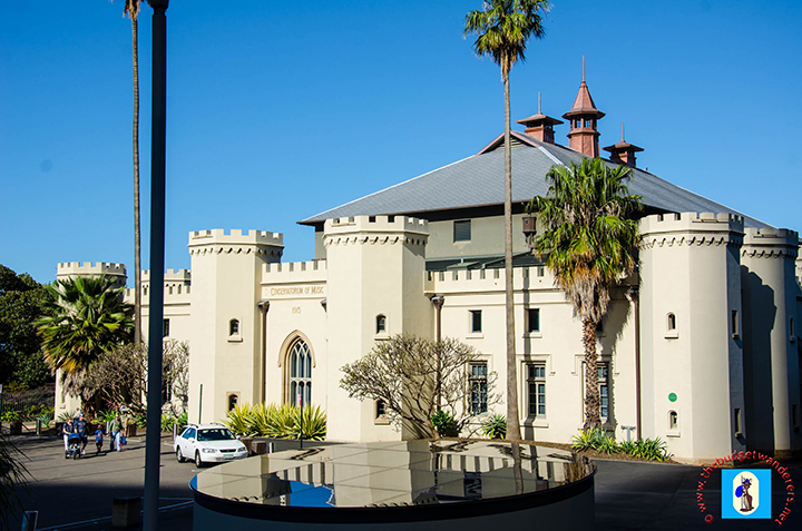The Sydney Conservatorium of Music was designed in a Gothic inspired castle.