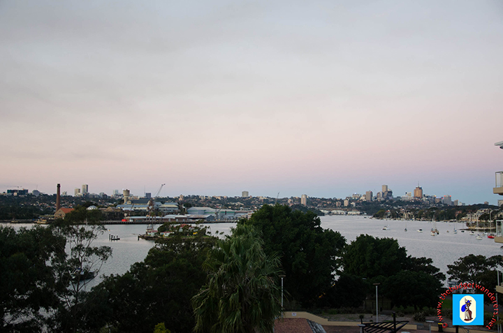 A view of the Parramatta River from the Birkenhead Point Shopping Centre.