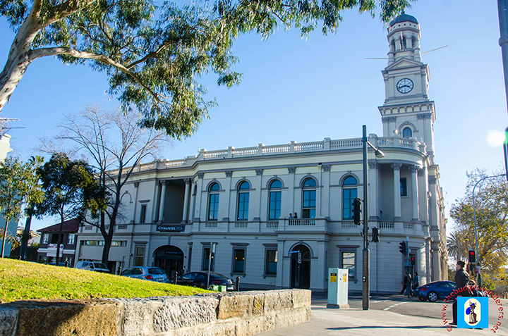 Paddington Town Hall and its 32-metre clock tower.