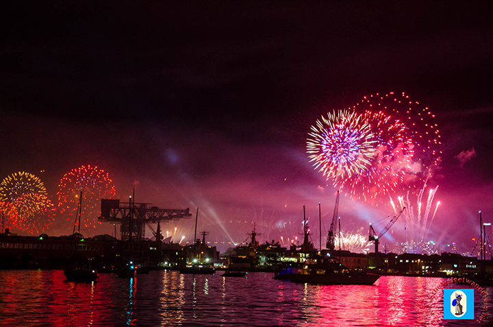 Fireworks display during the International fleet Review.