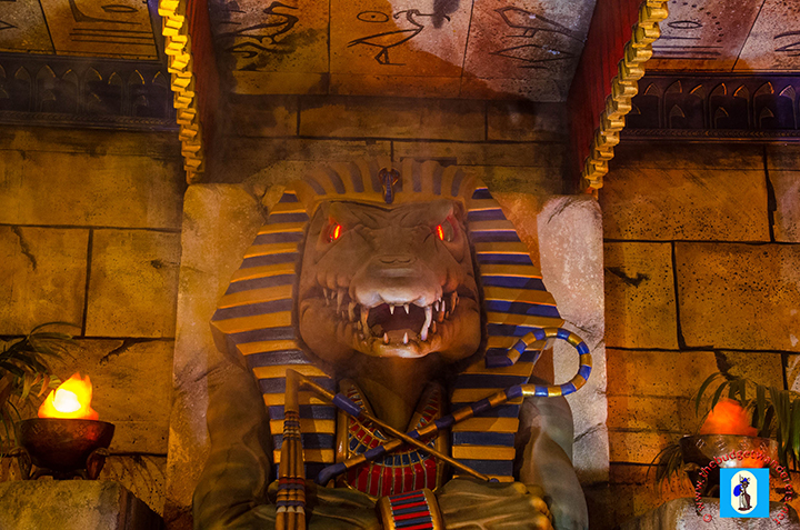 Egyptian-themed enclosure of the 'Lost World of Reptiles'.