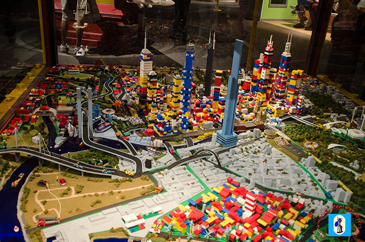 A lego replica of Melbourne CBD.