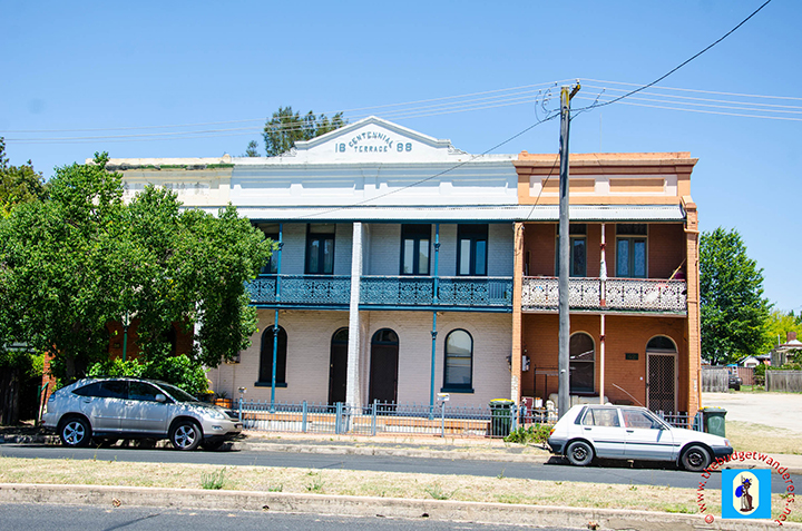 Terrace houses line most of the streets of Bathurst.