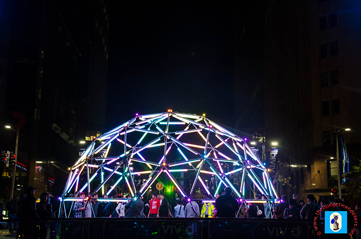 """Geo Glow Dome"" at Martin Place."