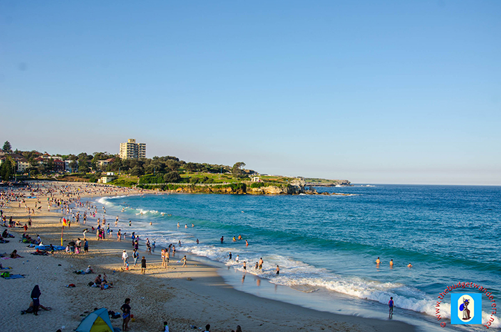 A view of the shoreline of Coogee Beach.